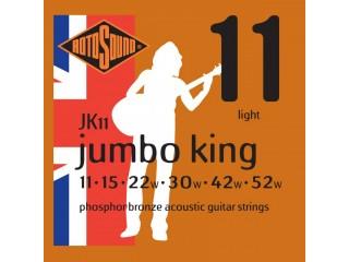 Струны для акустических гитар  ROTOSOUND JK11 STRINGS PHOSPHOR BRONZE c доставкой по России