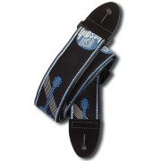 GIBSON ASGG-800 2` WOVEN STRAP W/GIBSON LOGO STEEL BLUE