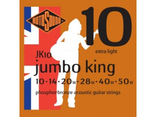 Струны для акустических гитар  ROTOSOUND JK10 STRINGS PHOSPHOR BRONZE c доставкой по России