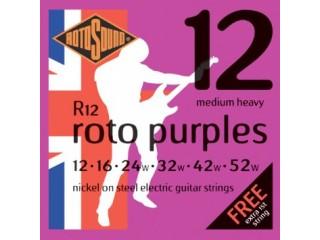 Струны для  электрогитар  ROTOSOUND R12 STRINGS NICKEL MEDIUM HEAVY c доставкой по России