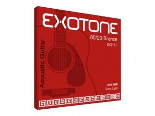 Струны для акустических гитар  EXOTONE EG110 80/20 Bronze .010-.049 Extra Light c доставкой по России