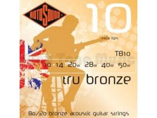 Струны для акустических гитар  ROTOSOUND TB10 STRINGS PHOSPHOR BRONZE c доставкой по России