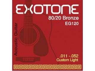 Струны для акустических гитар  EXOTONE EG120  c доставкой по России