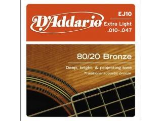 Струны для акустических гитар  D`Addario EJ-10 c доставкой по России