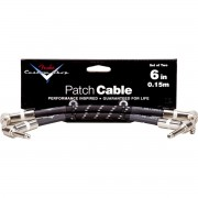 FENDER CUSTOM SHOP 6`` PATCH CABLE 2 PACK BLACK TWEED