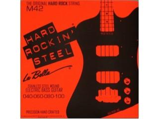 Струны для бас-гитар  La Bella M42 Hard Rockin' Steel Custom Lights c доставкой по России