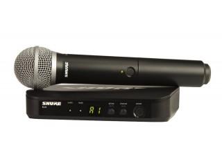 Вокальные радиосистемы  SHURE BLX24E/SM58 K3E 606-638 MHz c доставкой по России
