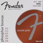 FENDER STRINGS NEW ACOUSTIC 60XL PHOS BRNZ BALL