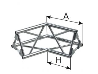 Ферма треугольная диаметр 50 мм INSTALL 2-х сторонний угол 120° c доставкой по России