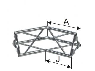Ферма треугольная диаметр 30 мм INSTALL 2-х сторонний угол 135° c доставкой по России
