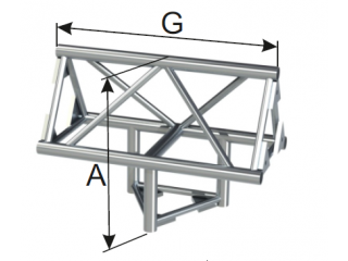 Ферма треугольная диаметр 50 мм INSTALL 3-х сторонний угол под 90° c доставкой по России