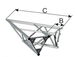 Ферма треугольная диаметр 50 мм INSTALL 2-х сторонний угол 45° c доставкой по России