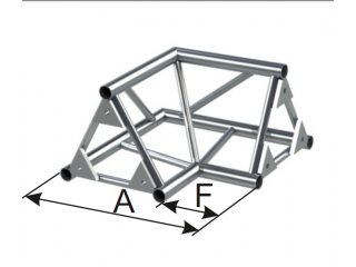 Ферма треугольная диаметр 30 мм INSTALL 2-х сторонний угол 90° c доставкой по России